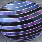 "Fused glass bowl 10"" dia."
